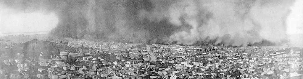 San Francisco 1906 earthquake fire damage 2