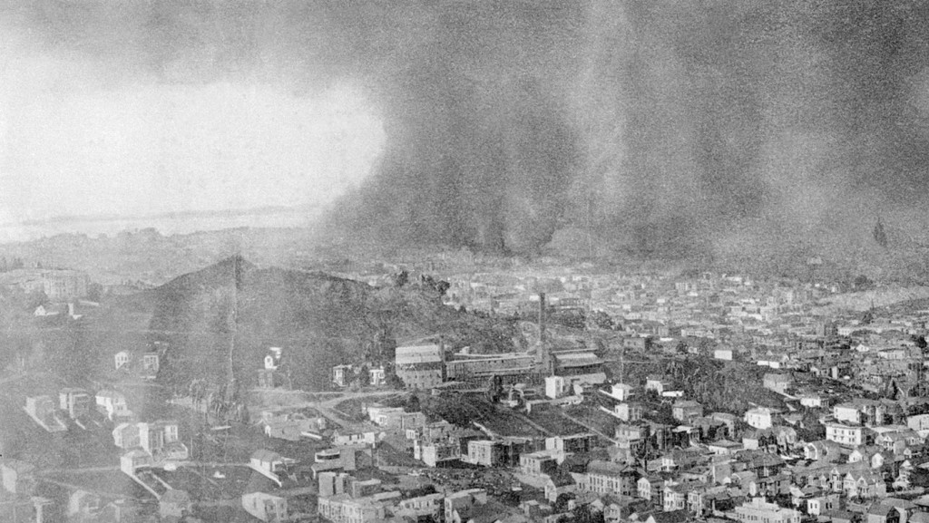 San Francisco 1906 earthquake fire damage 3