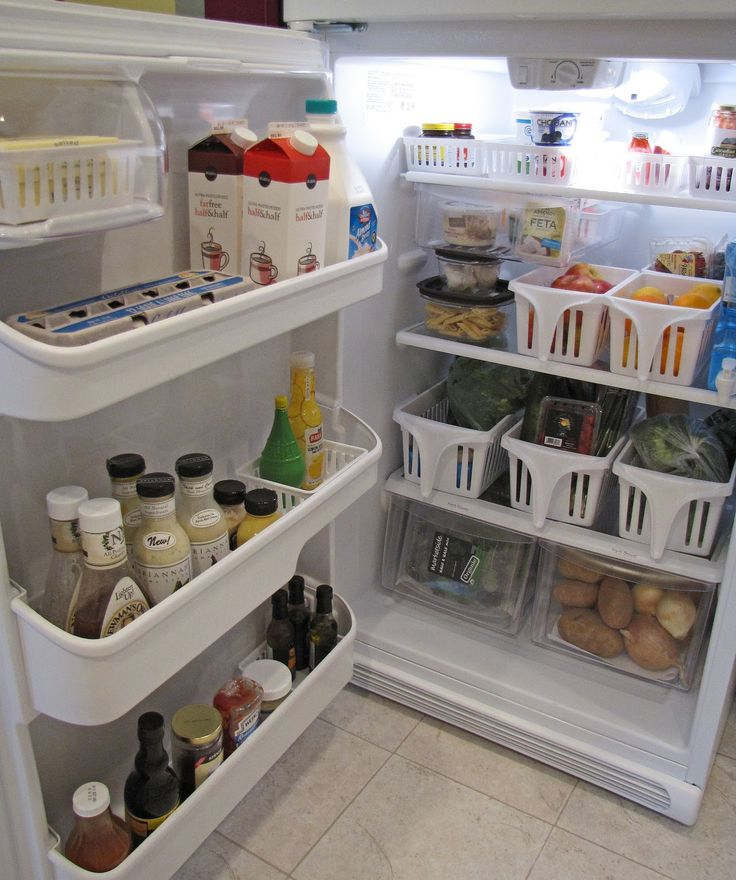 fridge organization kitchen hack