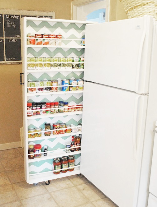 slide-out pantry kitchen hack