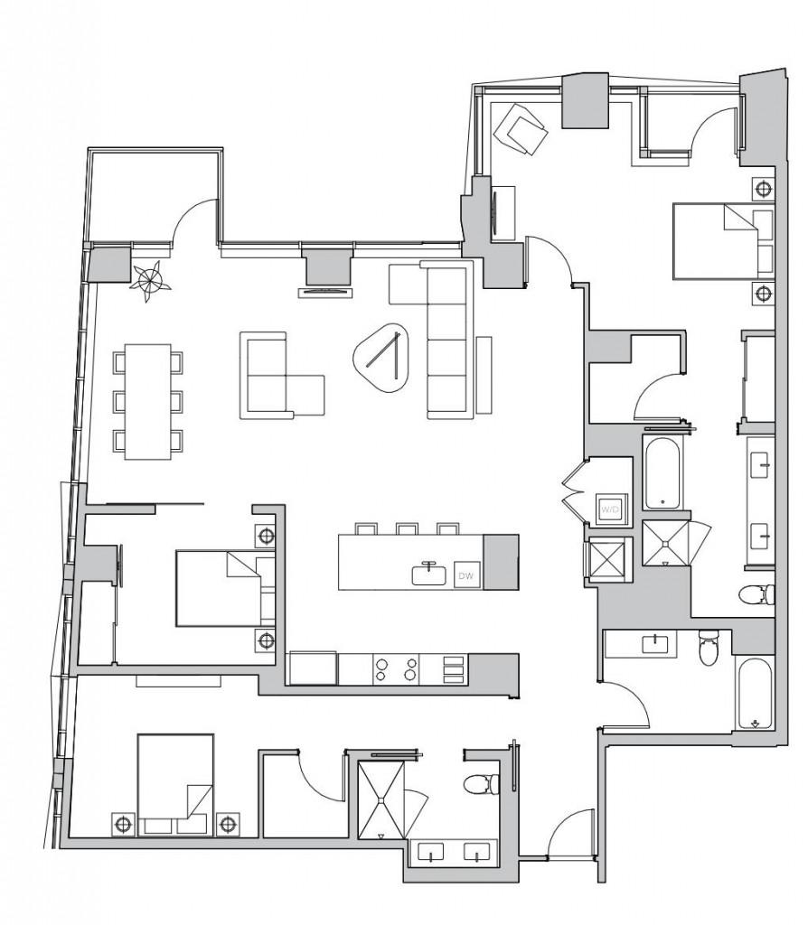 rockwell penthouse floorplan